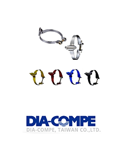 DiaCompe Steel Anodized Cable Clamps (Set of 3) 25.4mm