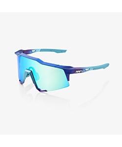 100% Speedcraft Metallic Blue Topaz / Multilayer Mirror Lens Eyewear