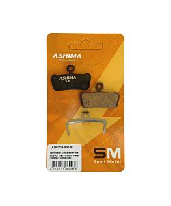 Ashima Avid X0 Semi-Metallic Pads 4 pistons