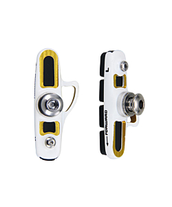 Barbieri Super Light V-Brake Pads WHITE/GOLD