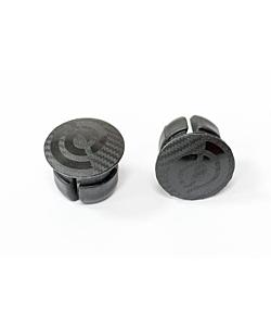Bike Ribbon Pair of Carbon Graphics Stem Caps