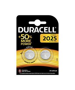 Duracell CR2025 3V Lithium Batteries (Pair)