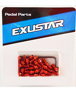 Exustar Replacement Pin Kit for Am-Fr-Dh Pedals - Color Red