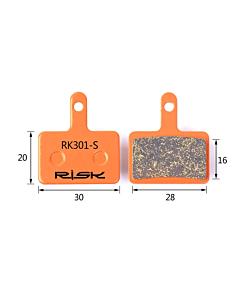 Risk RK301-S Semi-Metallic Shimano Deore Pads