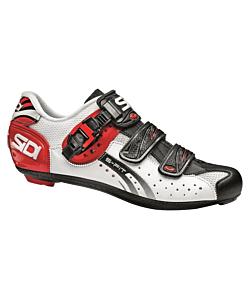 Sidi Genius 5 Fit Carbon White/Black/Red Road Shoes