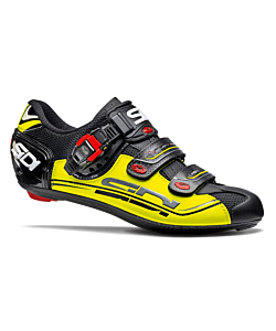 Sidi Genius 7 Fit Carbon Black/Yellow/Black Road Shoes