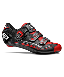 Sidi Genius 7 Fit Carbon Black/Black/Red Road Shoes