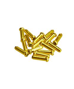 Alligator Aluminium Brake / Shift Cable Tips - 10 Pieces Gold