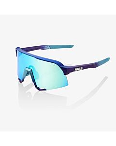 100% S3 Metallic Blue Topaz / Multilayer Mirror Lens Eyewear