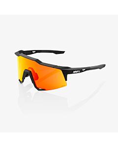 100% Speedcraft Soft Tact Black / HiPER Red Lens Eyewear