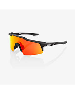 100% Speedcraft SL Soft Tact Black / HiPER Red Lens Eyewear
