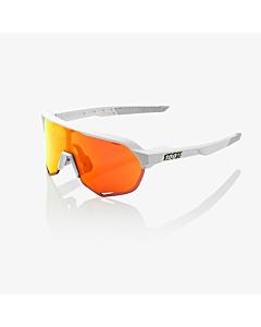 100% S2 Soft Tact White / HiPER Red Multilayer Mirror Lens Eyewear