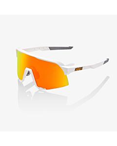 100% S3 Soft Tact White / HiPER Red Multilayer Mirror Lens Eyewear