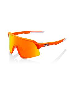 100% S3 Soft Tact Neon Orange / HiPER Red Lens Eyewear