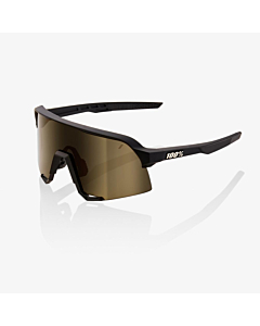100% S3 Soft Tact Black / Soft Gold Mirror Lens