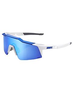 100% Speedcraft SL Matte White / HiPER Blue Lens Eyewear