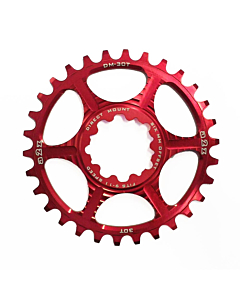 A2Z Direct Mount 6mm Offset Chainring Red