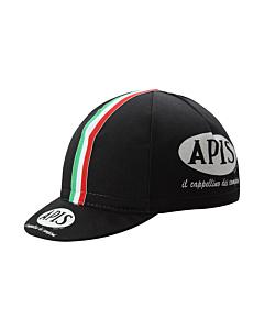 Apis Black Vintage Cycling Cap