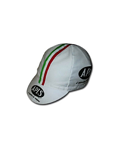 Apis White Vintage Cycling Cap
