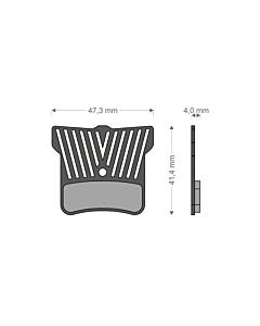 Brenta Light Tech Shimano 4-pistons Caliper Organic Disc Brake Pads