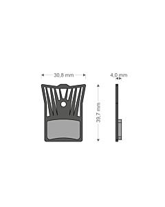 Brenta Light Tech Shimano XTR / Road / GRX Organic Disc Brake Pads