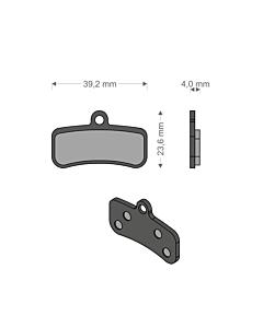 Brenta Shimano 4-pistons Caliper Organic Disc Brake Pads