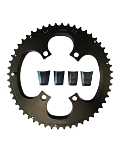 External Chainring Compatible Shimano 4 Holes 110mm 11s