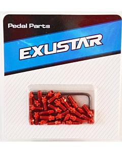 Exustar Pin di Ricambio 8mm per Pedali Flat - Rosso