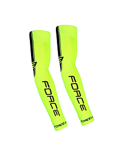 Force Arm Warmers Knitted Yellow Fluo