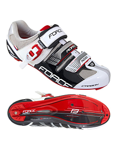 Force Road Carbon Black / White Cycling Road Shoes