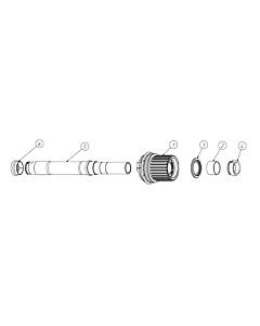 Fulcrum Kit Conversione Micro Spline 12v E-MTB Mozzi Boost 6 Fori I.S.