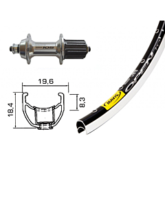 GMB 105 / Mavic Open Pro Ruota Posteriore Corsa
