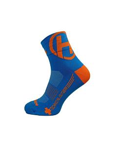Haven Silver Neo 2x Short Socks MTB Blue / Orange