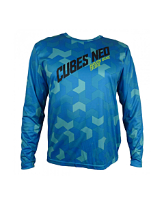Haven Cubes Neo Long Sleeve MTB Jersey Blue
