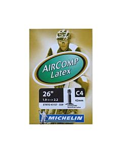 Michelin Aircomp Latex C4 MTB Inner Tube Schrader Valve 42mm