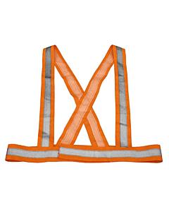 MVTek Orange Safety Reflective Braces