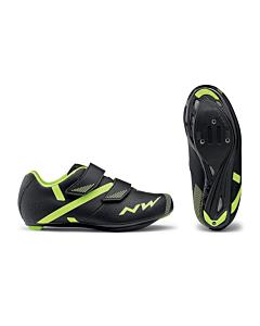 Northwave Torpedo 2 Junior Road Shoes Black / Yellow Fluo