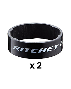 Ritchey WCS Carbon UD Glossy Black Set Distanziali 10mm (x2)