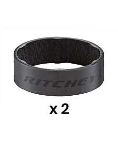 Ritchey WCS Carbon UD Matte Black Set Distanziali 10mm (x2)