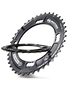 Rotor XC2 BCD 120 MTB Double (42-40-38) External Chainring for Sram