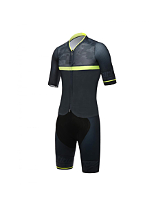 Santini River Speedsuit Black / Yellow