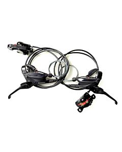 Shimano EF505 Coppia Freni a Disco MTB con Comandi 3x8v