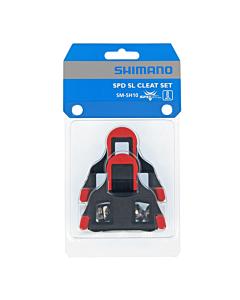 Shimano SM-SH10 SPD-SL Tacchette Pedali Corsa Rosso 0°