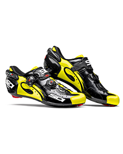 Sidi Wire Carbon Vernice Black/Yellow Fluo Road Shoes