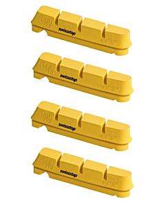SwissStop Set 4 Pattini Yellow King FlashPro (Shimano-Sram)