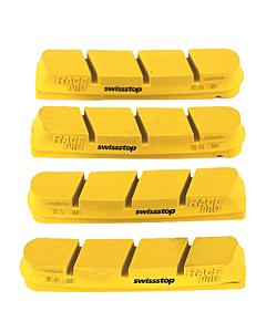 SwissStop Set 4 Pattini Yellow King RacePro (Campagnolo)
