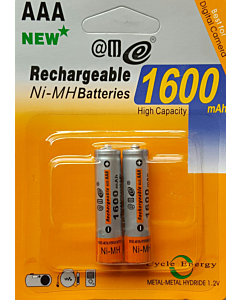 4 AAA Rechargeable Batteries  RTU 1350mAh